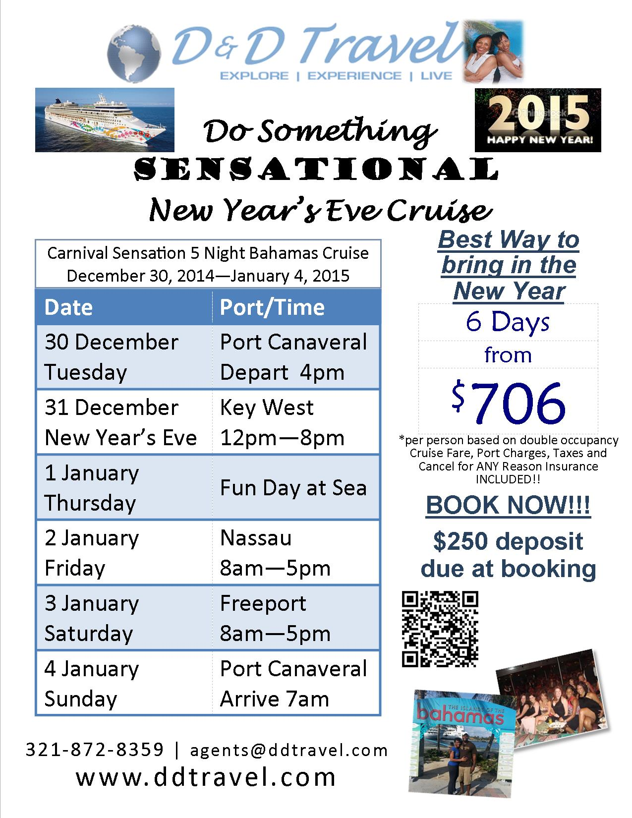 New Year's Eve 2015 from $706